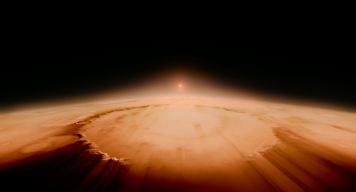 The Sun strips away the atmoshpere of Planet Earth in the distant future - billion of years from now